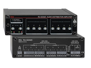 RDL Introduces RU-ADA4D 2x4 or 1x8 Audio Distribution Amplifier